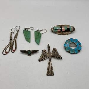Lot # 112 - Native American Silver Jewelry