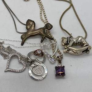 Lot # 116 - 7 Hallmarked 925 Necklaces (42.8g)
