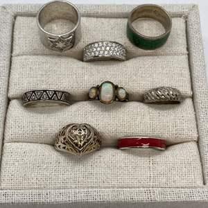 Lot # 118 - Hallmarked 925 Rings (33.0)