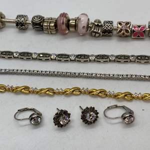 Lot # 119 - Sterling Bracelets and Earrings