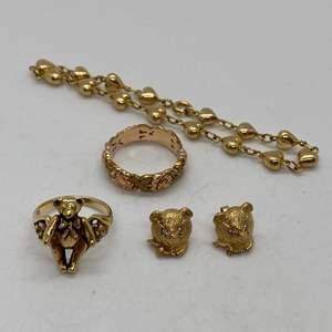 Lot # 127 - 14k Gold Hallmark Jewelry (21.2g)