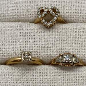 Lot # 129 - 14k Gold Hallmark Diamond Rings (6.7g)
