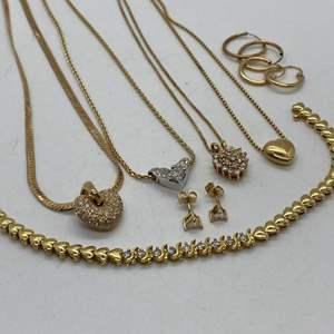 Lot # 138 - 14k Gold Hallmarked & Diamond Jewelry (35.8g total weight)