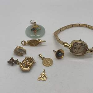 Lot # 139 - 10k and 14k Jewelry and Watch