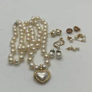 Lot # 142 - 14k Gold Hallmarked and Pearl Jewelry