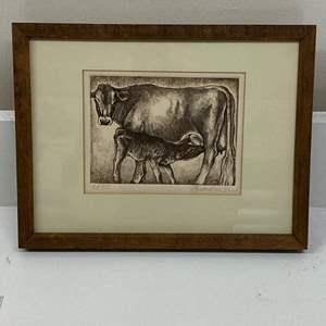 Lot # 167 - Etching Signed & Framed Artist Proof