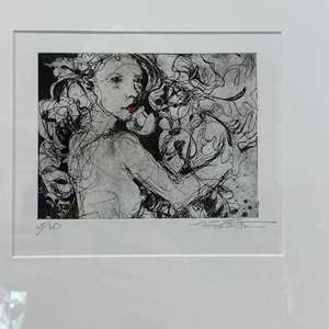 Lot # 169 - Etching Signed & Framed Artist Proof