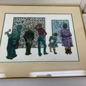 Lot # 186 - Etching Signed & Framed Artist Proof