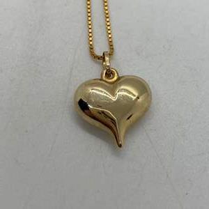 Lot # 214 - 14k Gold Hallmark necklace & 14k heart (2.8g)