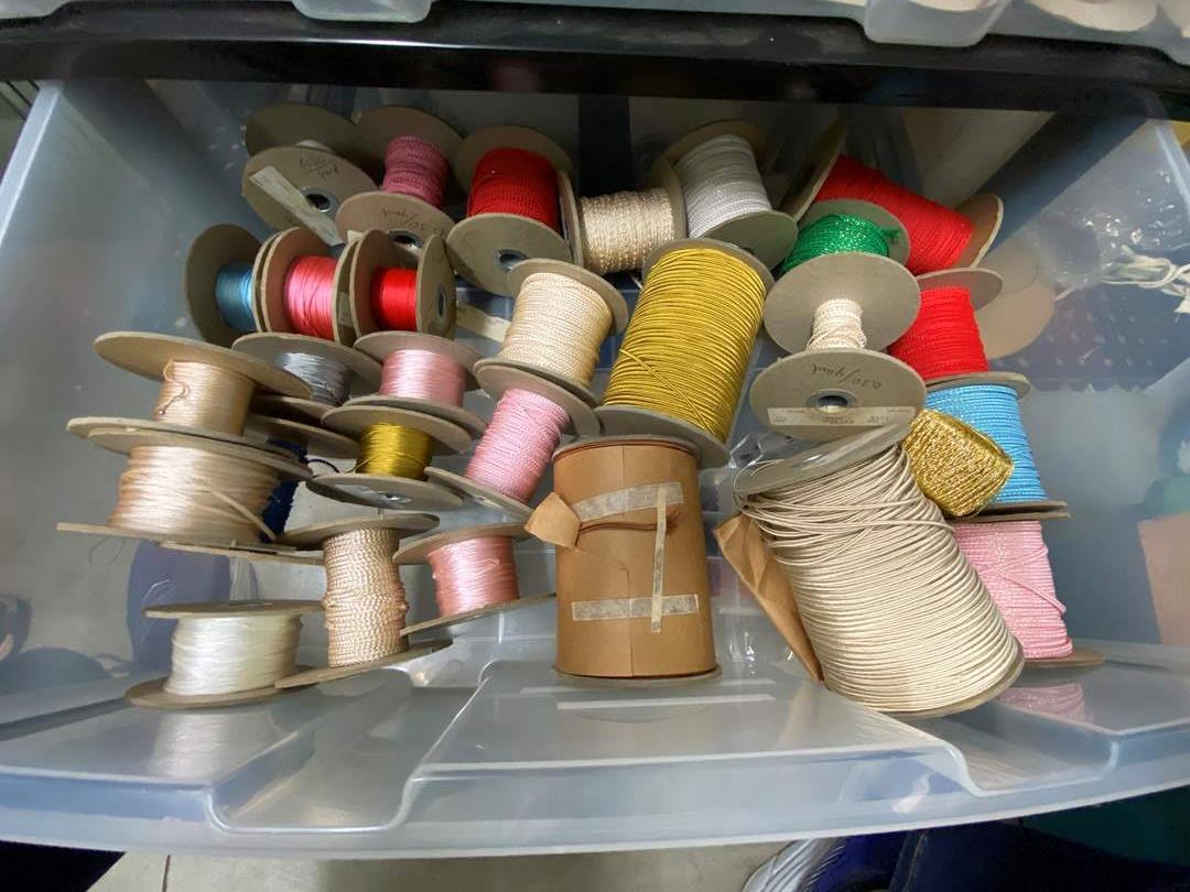 Lot # 252 - Drawer Full of Ribbon (main image)