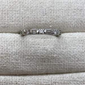 Lot #406 - Platinum & Diamond Eternity Ring (4.5g)