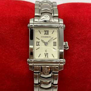 Lot # 408 - Charriol Stainless Steel Square Watch