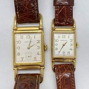 Lot # 415 - Pair of Vintage Hamilton Watches