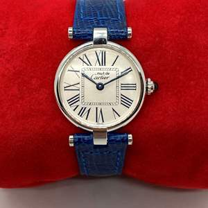 Lot # 417 - Cartier Silver 925 Watch with Sapphire