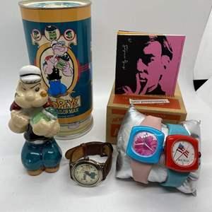 Lot # 422 - Andy Warhol Watches & Popeye Watch