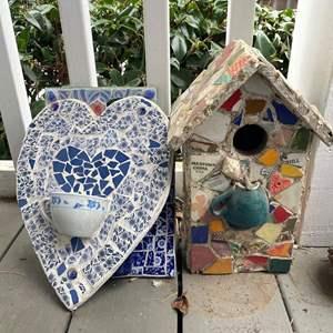 Lot # 523 - Mosaic Yard Artwork Pieces