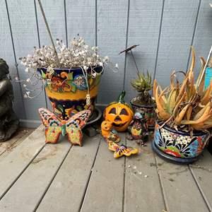 Lot # 529 - Mexican Talavera Pottery/Animal Figurines