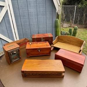 Lot # 558 - Antique Cigar Boxes/ Antique Post Office Box