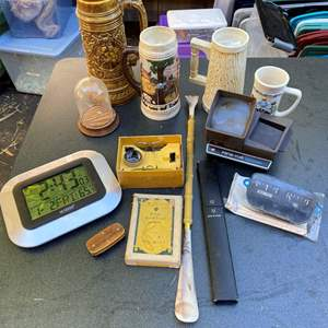 Lot # 616 - Men's Lot, Precision Tools, Steins, and more