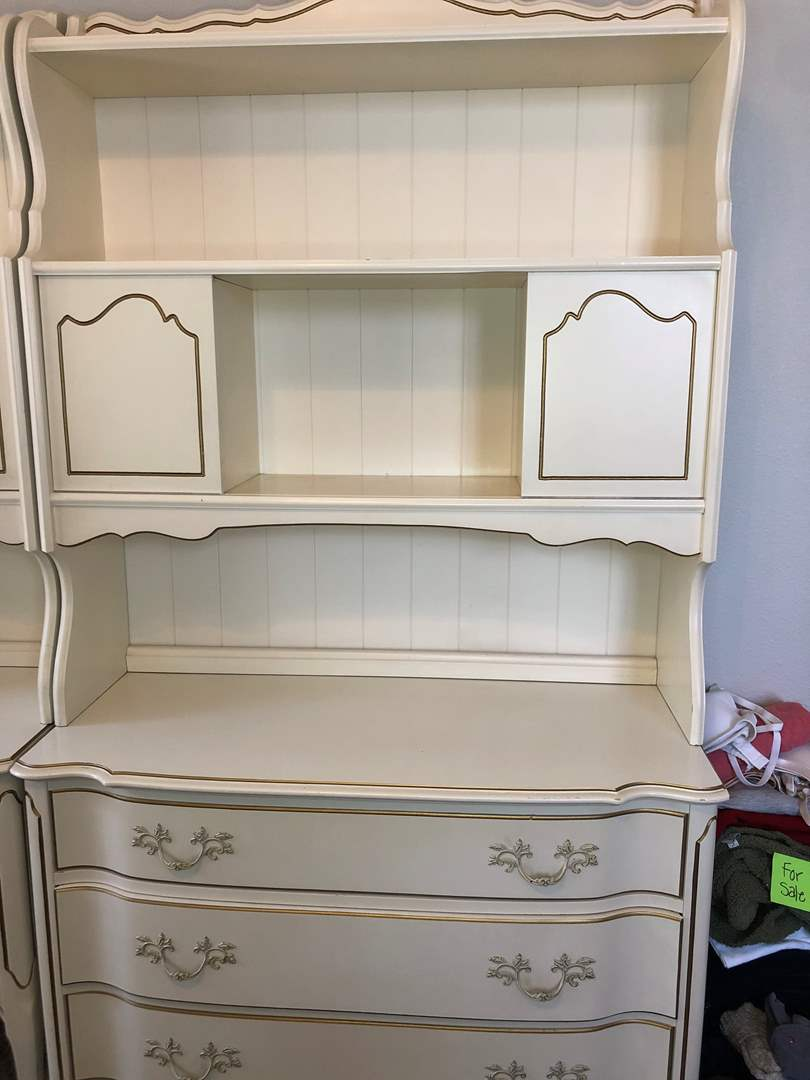 Lot # 4 - French Provincial Dresser with Hutch (main image)