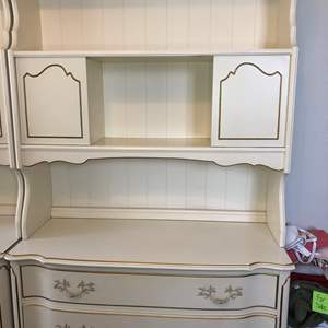 Lot # 4 - French Provincial Dresser with Hutch