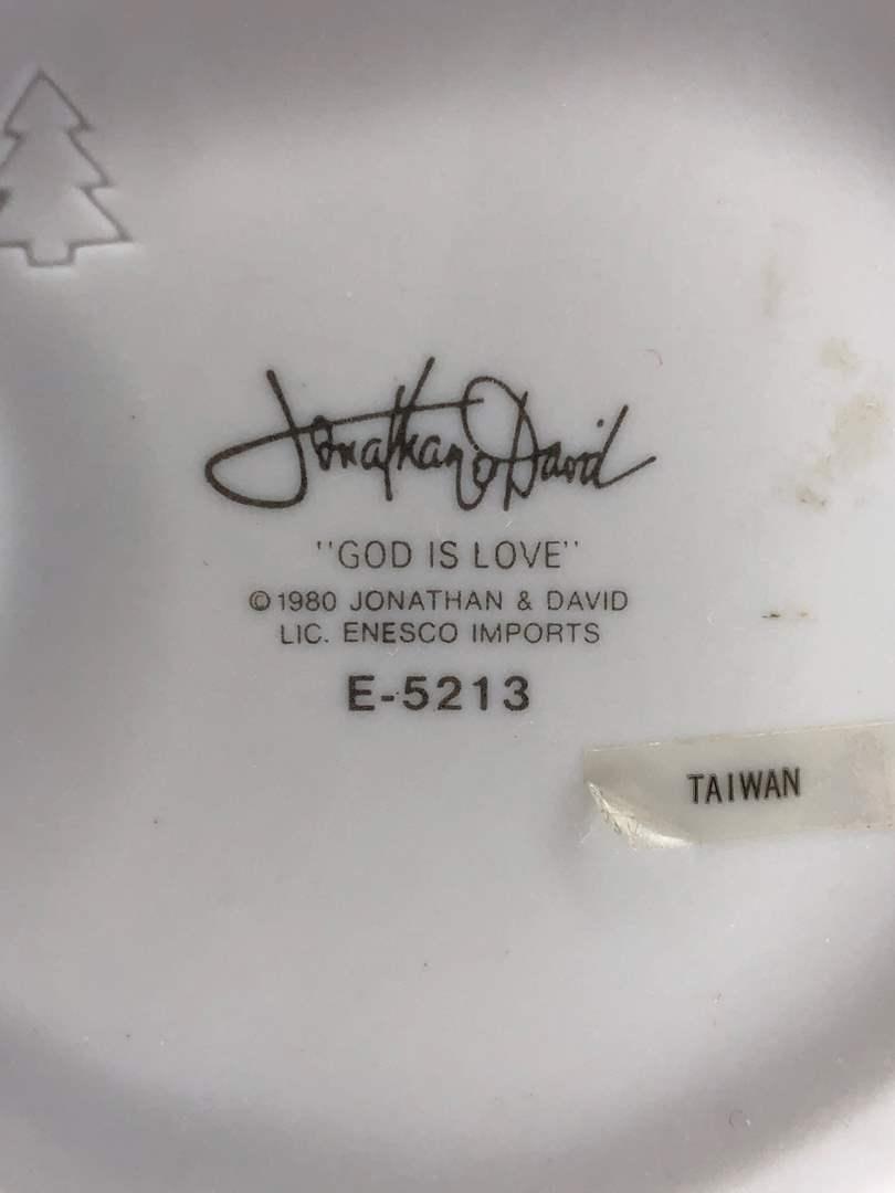 "Lot # 10 - ""God is Love"" Jonathan David Precious Moments Figurines (main image)"
