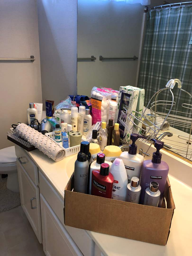 Lot # 22 - Bathroom Items including Lotions, Shampoos, Sunblock, Venus Blade Refills and More  (main image)