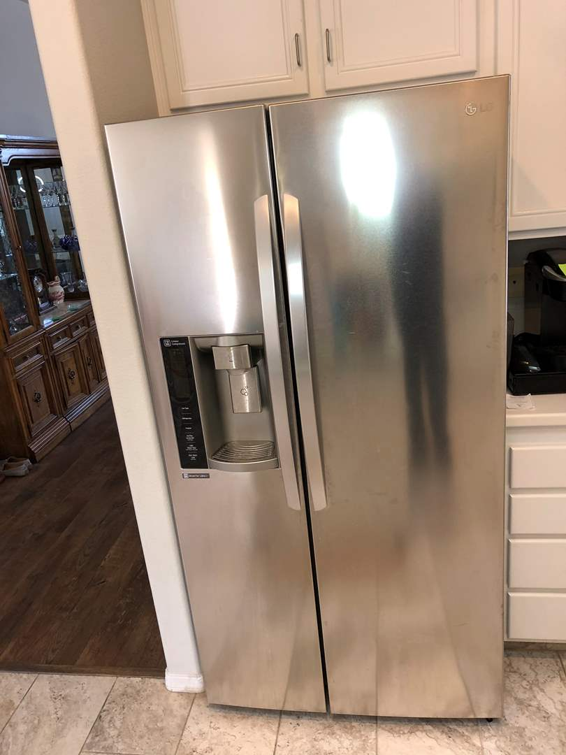 Lot # 26 - LG Side By Side Stainless Refrigerator  (main image)