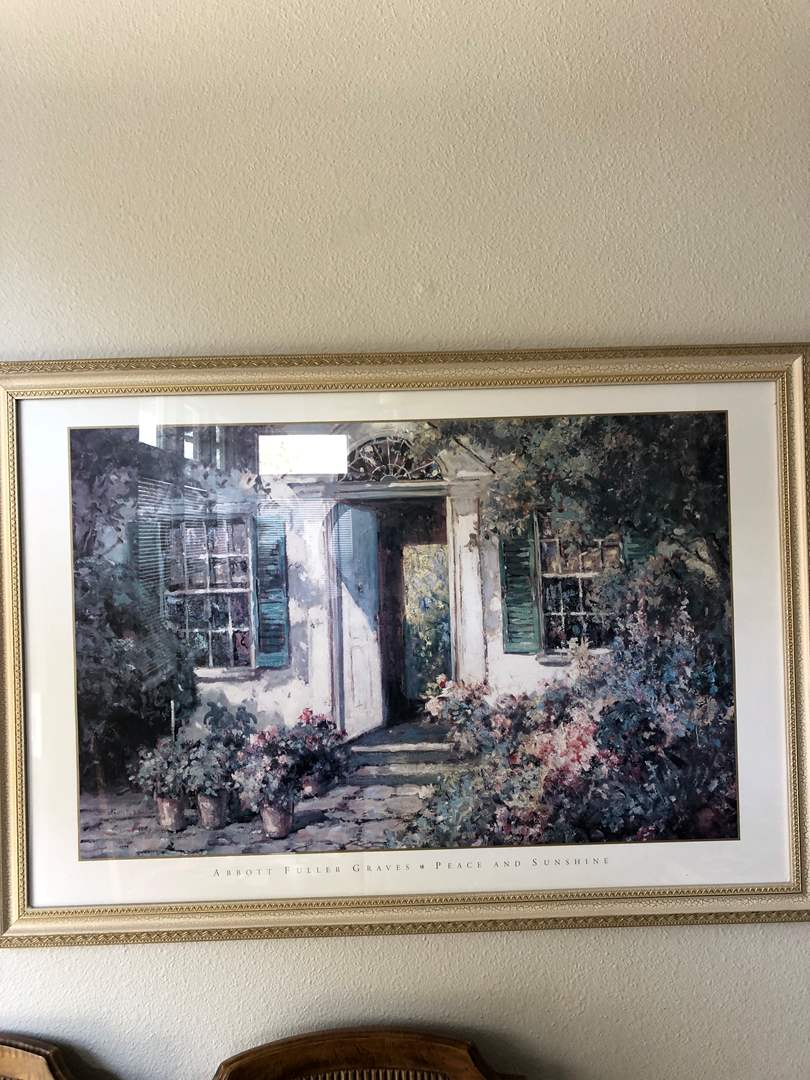 Lot # 29 -American artist Abbott Fuller Graves Lithograph beautifully Framed and matted  (main image)