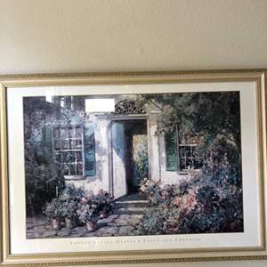 Lot # 29 -American artist Abbott Fuller Graves Lithograph beautifully Framed and matted