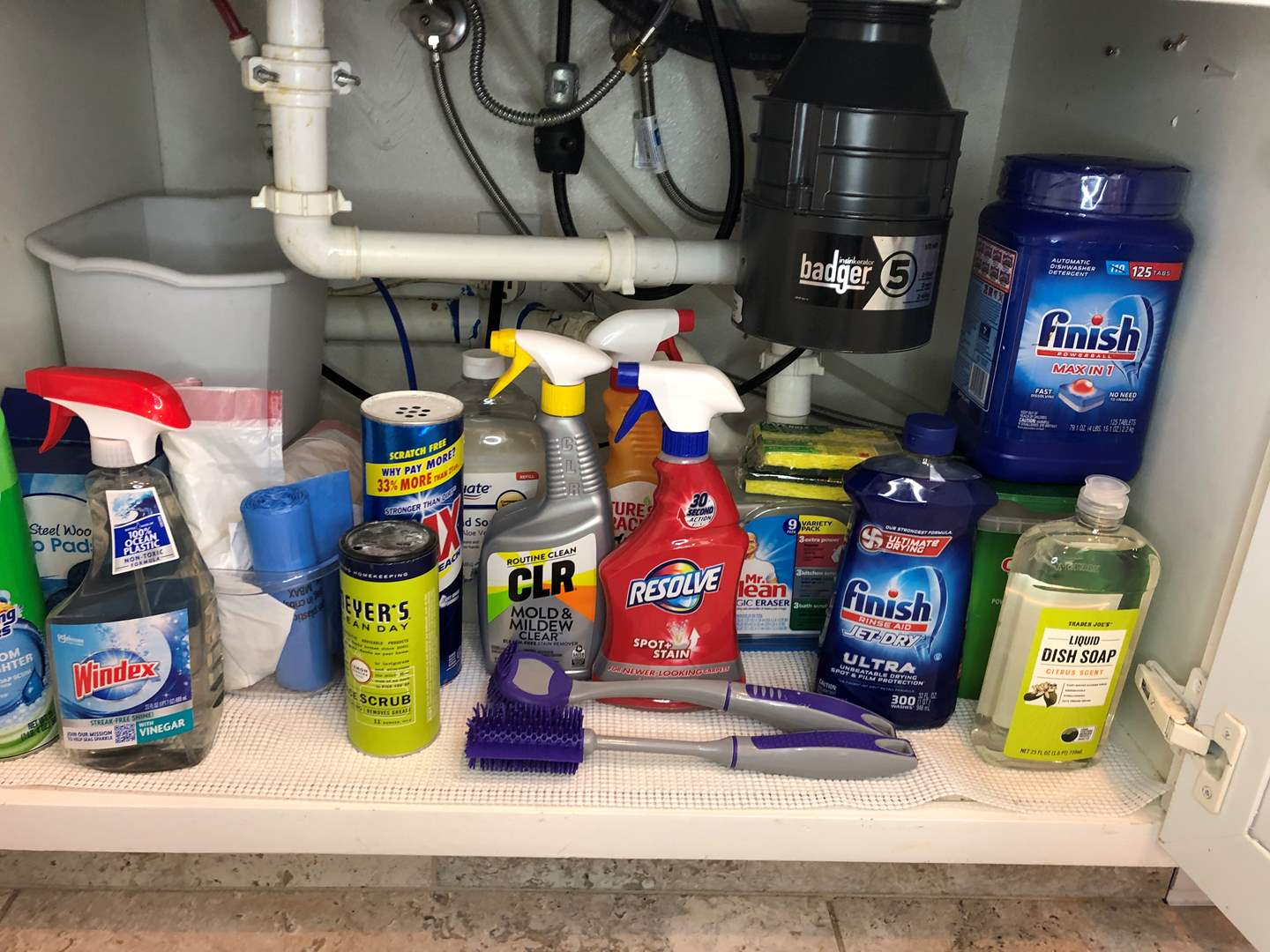 Lot # 40 - Cleaning Items, Dish Soap, Sponges, Dishwasher Pods and More  (main image)
