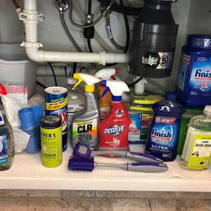 Lot # 40 - Cleaning Items, Dish Soap, Sponges, Dishwasher Pods and More