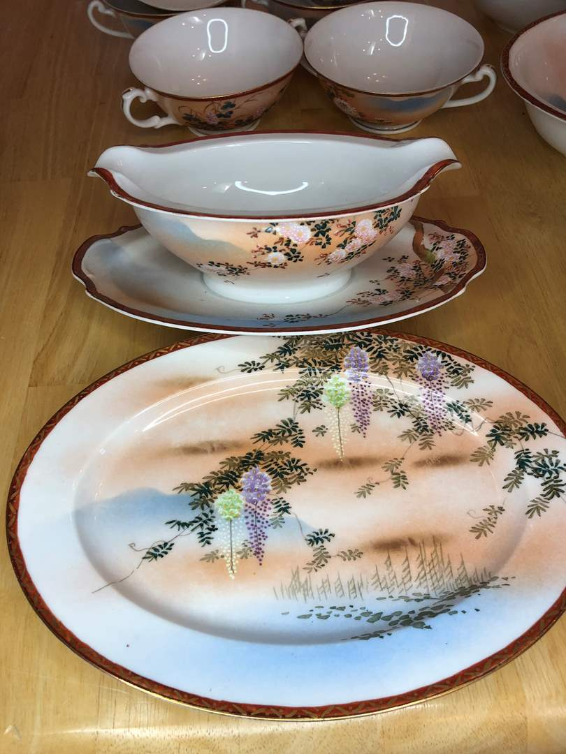 Lot # 59 - Beautifully Hand-painted China Set ..table not included (main image)