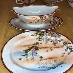 Lot # 59 - Beautifully Hand-painted China Set ..table not included