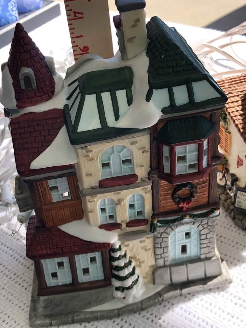 Lot # 62 - Large Christmas Lighted City/Village  Display (main image)