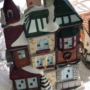 Lot # 62 - Large Christmas Lighted City/Village  Display