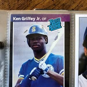 Lot # 63 -  *COLLECTORS facsimile autographed  Dodgers Baseballs & Baseball  Card Collection Including  Bo Jackson donruss