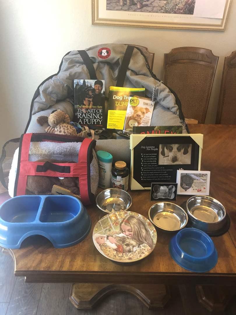 Lot # 66 - Dog lover items (main image)