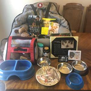 Lot # 66 - Dog lover items