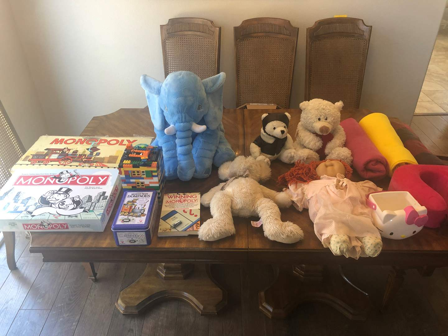 Lot # 68 - Vintage Monopoly, Games, Stuff Animals and More  (main image)