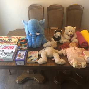 Lot # 68 - Vintage Monopoly, Games, Stuff Animals and More