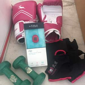 Lot # 77 - Exercise Paraphernalia, DVD's and Scale