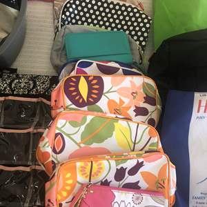Lot # 86 - Cosmetic Purses, Knitting Supplies and More
