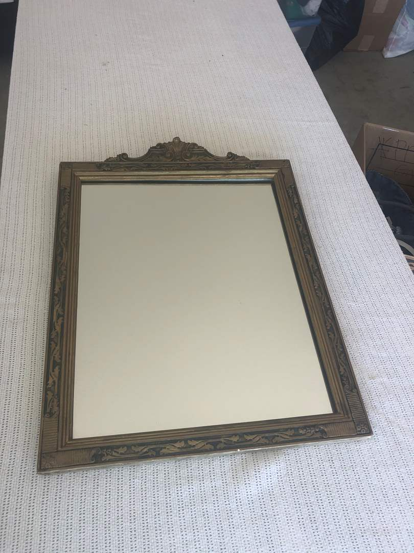 Lot # 87 - Vintage Guilded Astoria Grand Style Framed Mirror (main image)