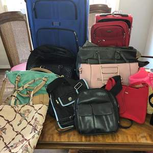 Lot # 65 - Purses and Rolling Luggage