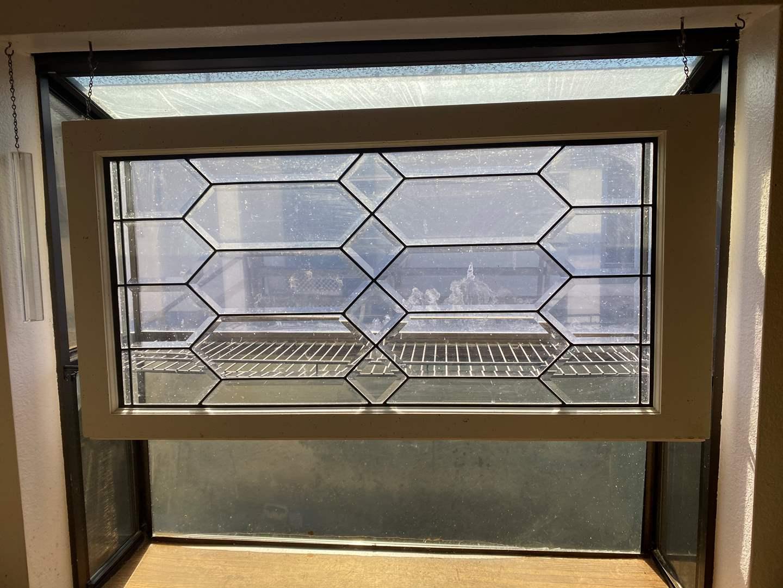 Lot # 654 - Beveled Glass Window Pane (main image)