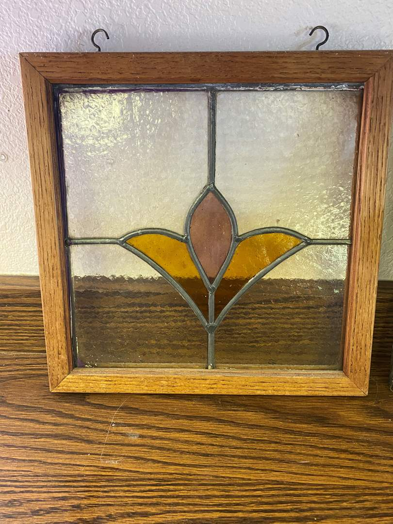 Lot # 660 - Stained Glass Window (main image)