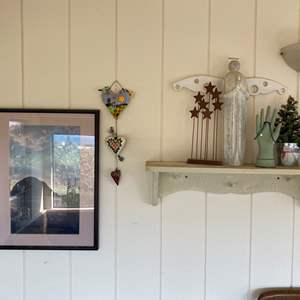 Lot # 662 - Shabby Shelf With Contents