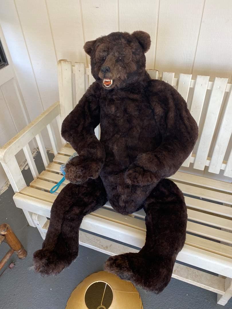 Lot # 668 - 4Ft Tall Hand Made Bear (main image)