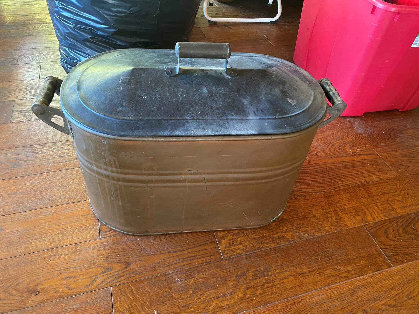 Lot # 673 - Vintage Copper Wash Tub/Boiler (main image)